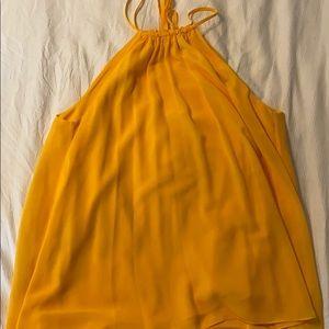 gianni bini deep yellow high neck tank top